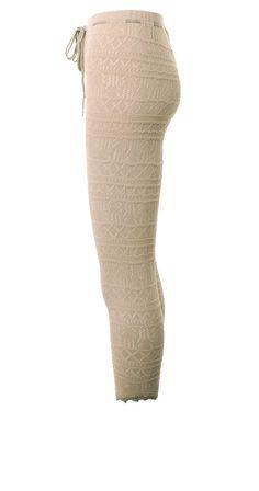 Knit Leggings - Powder Rosa von Tina Wodstrup