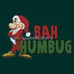Grumpy Dwarf Bah Humbug Christmas by sweetsisters Watch Cartoons, Disney Cartoons, Funny Cartoons, Cartoon Art, Cartoon Characters, Seven Dwarfs, 7 Dwarfs, Grumpy Dwarf, Warriors Shirt