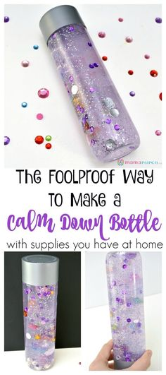 If you had issues getting your sensory bottles to work, try this easy peasy tutorial that will work like a charm. These calm down bottles can be customized with whatever you have at home and provide hours of fun! #sensoryactivity