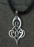 DOUBLE SPIRAL - Small Sterling Silver Celtic Pendant