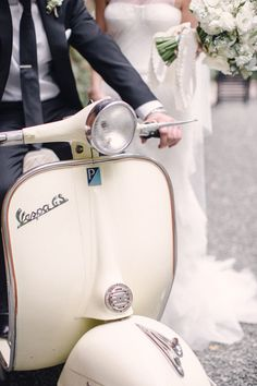 Wedding Aventura aboard a white vespa. is the the Head of (www. She has helped to and some of the most and in the world for a clientele that includes A-list and Here she shares a bit of her Vespa Ape, Vespa Scooters, Piaggio Vespa, Vespa Wedding, Wedding Cars, Wedding Transportation, Vintage Cars, Vintage Vespa, Commuter Bike