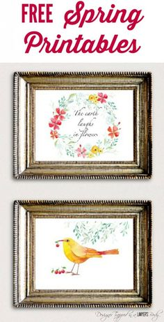 SO BEAUTIFUL!  Come download these FREE Spring printables from Designer Trapped in a Lawyer's Body!  They are perfect for horizontal frames.