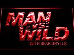 Man vs Wild with Bear Grylls LED Neon Sign