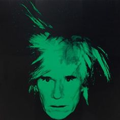 Andy Warhol, Self-Portrait, 1986. Silkscreened ink on synthetic polymer paint on canvas, 106 x 106 inches (269.24 x 269.24 cm)