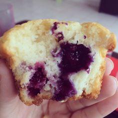 Muffin de blueberry ou mirtilo
