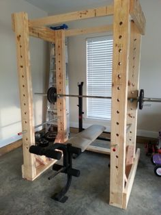 I just wanted to share a pic of my new homemade weight rack!! Took a few days to build but it was worth the savings $$:)