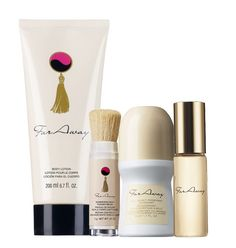 "Far Away 4-piece set $12.99 Buy Direct/Free shipping@ http://www.youravon.com/trishadunn email IndianaAvon@yahoo.com SELL AVON!! Low investment, free website, free online training! Use CODE: ""TrishaDunn"" @URL http://www.Start.YourAvon.com"