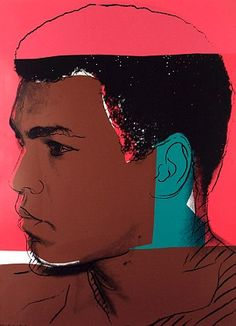 Painting of Muhammad Ali by Andy Warhol