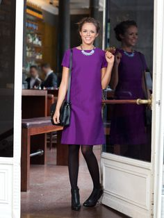 BurdaStyle dress with lots of horizontal seams...perfect for colorblocking!