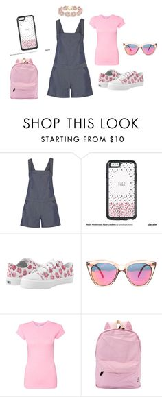 """""""Hello!"""" by glitterandchic ❤ liked on Polyvore featuring Rebecca Minkoff, OtterBox, Le Specs and BaubleBar"""