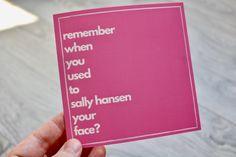 Pure notions sure! Irish Goodbye, Irish Greetings, Big Ride, Sally Hansen, Handmade Items, Handmade Gifts, Birthday Cards, Etsy Seller, Greeting Cards