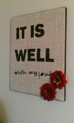 Burlap canvas (used diy stencil & fabric paint)