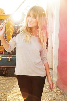 fall style {simple sweater & leggings} #laurenconrad