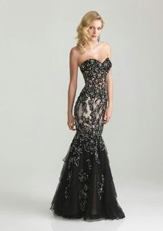 Black wedding dress. I know it's a little early to think about a vow renewal, but this is what I want if we should be so lucky.