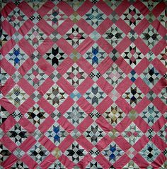#antique sawtooth #quilt love the colors and pattern
