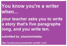 Guilty. I did this in junior high and high school.