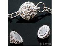 www.sayila.be - Magnetische sluiting rond met strass ± 14,5x10,5mm - 25662