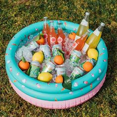The inflatable Tropical Palm Inflatable Drink Cooler fits up to 18 cans and 3 bags of ice. Floats in the pool or the perfect centerpiece for your backyard table. Pairs perfectly with the FUNBOY Tropical Palm Kiddie Pool. Backyard Birthday Parties, Summer Birthday, Hawaii Birthday Party, Bonfire Birthday Party, Birthday At The Beach, 24th Birthday, Birthday Kids, Surprise Birthday, Sommer Pool Party