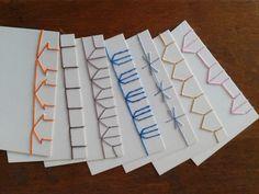muestrario de costura japonesa - encuadernación artesanal
