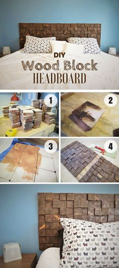 Check out how to build a DIY Wood Block Headboard @istandarddesign