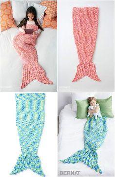 Crochet Mermaid Snuggle Sack - 22 Free Crochet Mermaid Tail Blanket Patterns
