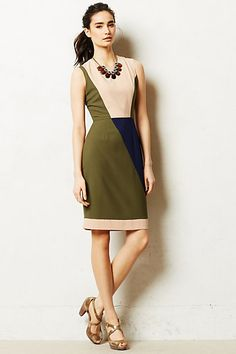 ALREADY OWN - Perle Sheath - blocky asymmetry, nice colors, flattering style for me. long enough to wear to a work conference.