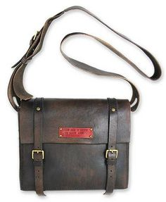 Men's leather messenger bag, 'The Road to Success' by NOVICA