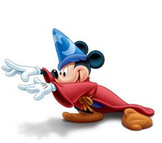 Mickey Mouse as the Sorcerer's Apprentice in Fantasia