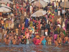 Festival at Varanasi on the Ganges river
