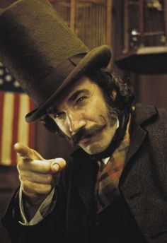 Daniel Day Lewis – (here as Bill the Butcher, Gangs of New York). One of my all time favorite actors.