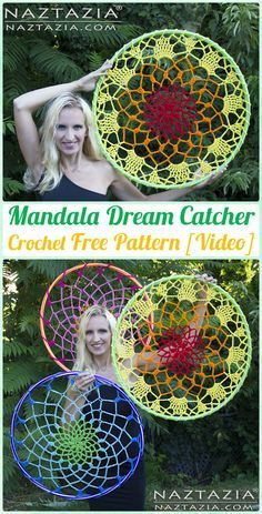 Crochet Mandala Dream Catcher Free Patterns - Crochet Dream Catcher Free Patterns