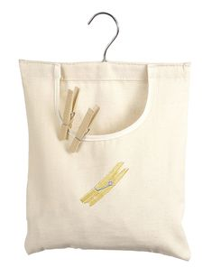 Amazon.com - Whitmor 6462-789 Canvas Clothespin Bag - Laundry Storage Products  $5