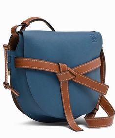 37d87758082 Loewe Large Gate Blue Varsity Pecan Convertible Calfskin Leather Cross Body  Bag - Tradesy Pecan