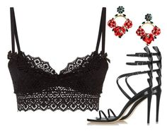 """""""Carmen"""" by fra3 ❤ liked on Polyvore featuring Agent Provocateur, Fendi and Dolce&Gabbana"""