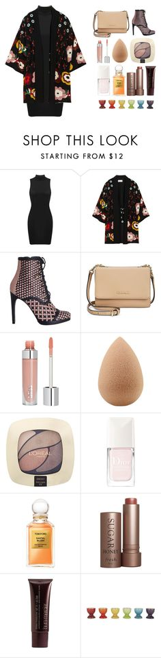 """""""4.935"""" by katrina-yeow ❤ liked on Polyvore featuring RED Valentino, Zimmermann, Calvin Klein, beautyblender, L'Oréal Paris, Christian Dior, Tom Ford, Fresh, Laura Mercier and Le Creuset"""