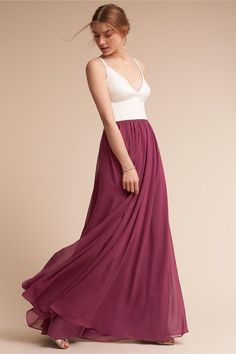 Simple, classy, deep red, flattering, sexy, long bridesmaid/formal dress!
