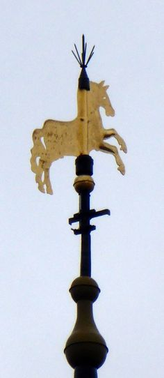 This #horse you'll find on the #Martinitoren, the most famous #tower of #Groningen #Netherlands