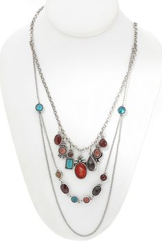 Artisans Domestic Triple Necklace in Silver - Beyond the Rack