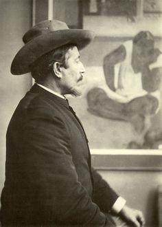 Paul Gauguin (Eugene Henri Paul Gauguin French painter, engraver, and sculptor. Paul Gauguin, Impressionist Artists, Painter Artist, Henri Matisse, Artist Life, Artist At Work, Famous Artists, Great Artists, Modern Artists