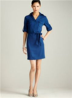 Ponte Belted Shirtdress chosen by DAvid Kibbe as SN. Agree! Colour, shape, everything!