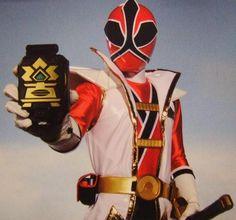 Jayden - red samurai power ranger. Awesome white vest thing. #PCCanadaday