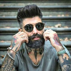 Fresh Haircuts - Fade with Modern Pompadour and Beard