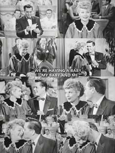 One of my very favorites....when Lucy can't tell Ricky they're having a baby.  Hilarious ! This scene were he sings the baby song is soooooooo sweet.