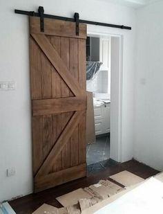 44 New Ideas For Bedroom Closet Door Ideas Diy Modern Barn The Doors, Sliding Doors, Door Hinges, Door Latches, Front Doors, Cheap Barn Doors, Barn Door Designs, Modern Barn, Contemporary Barn