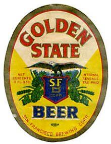 Golden State Brewing Corp. vintage beer label