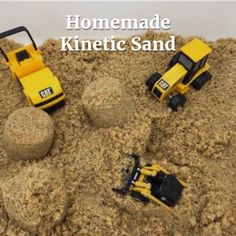 Easy DIY Kinetic Sand - make homemade kinetic sand for sensory play for a fraction of the cost of store bought sensoryplay sensorybins kineticsand 354869645636230801 Sensory Activities Toddlers, Baby Sensory, Summer Activities, Sensory Diet, Recycling Activities For Kids, Toddler Sensory Bins, Homemade Kinetic Sand, Make Kinetic Sand, Sensory Boxes