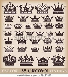 Crown. Vector Set. Collection Icons For Your Design. - 98217677 : Shutterstock
