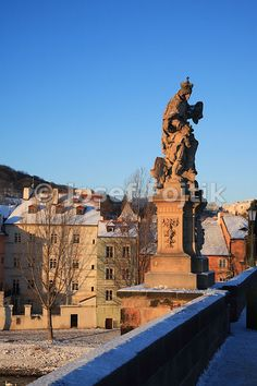 Kampa Island from the Charles Bridge and statue of Saint Ludmilla on the right, Prague, Czech Republic - Josef Fojtik Photography Charles Bridge, Prague Czech, Czech Republic, Statue Of Liberty, Saints, Island, Gallery, Pictures, Photography