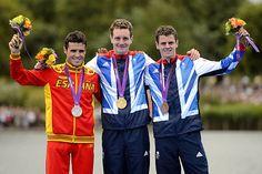 Men's Triathalon Final - Gold: Alistair Brownlee (Britain)  Silver: Javier Gomez (Spain)  Bronze: Jonathan Brownlee (Britain)