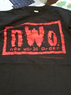 nWo Red Logo New World Order Mens Black T-shirt WCW WWE NWA #wcw